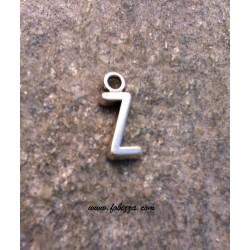 """2 τεμ, 16x6 χλστ, Μεταλλικά Γράμματα με 1 Σύνδεσμο, """"Z"""", Ασημί"""