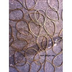 10 τεμ, 32x22 χλστ, Μεταλλικός, Δάκρυ, Χρυσό