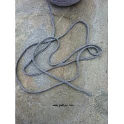 5 μέτρα, 7 χλστ λεπτό, Βαμβακερό Κορδόνι, Γκρι