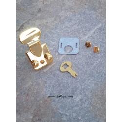 1 τεμ, 52-28 χλστ, Μεταλλικό Κούμπωμα για Τσάντα, Χρυσό