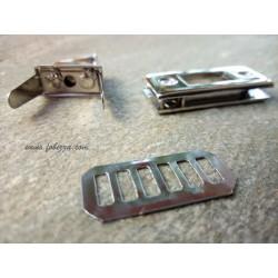 1 σετ, 34x18 χλστ, Μεταλλικό Κούμπωμα για Τσάντα, Ασημί