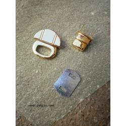 1 σετ, 30x30 χλστ, Μεταλλικό Κούμπωμα για Τσάντα, Χρυσό