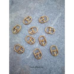 4 τεμ, 20x13 χλστ, Μεταλλικό Κούμπωμα Πόρπη, Χρυσό