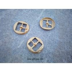2 τεμ, 34x30 χλστ, Μεταλλικό Κούμπωμα Πόρπη, Χρυσό