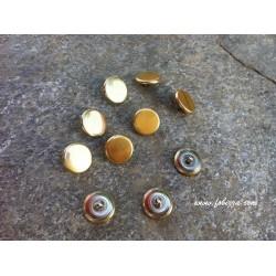 10 τεμ, 15 χλστ, Μεταλλικά Κουμπιά, Χρυσό
