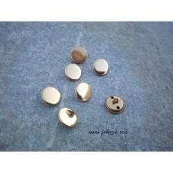 10 τεμ, 15 χλστ, Μεταλλικά Κουμπιά με Σύνδεσμο, Χρυσό