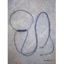 1μ, 0,8 χλστ πάχος, Μακραμέ Κερωμένο σχοινί