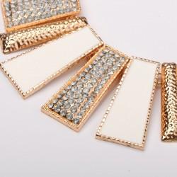 Κολιέ απο Κράμα, Σμάλτο και Τεχνητά διαμάντια, 48 εκατ. μακρύ