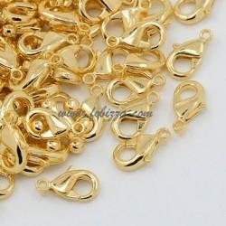 10 τεμ, 9.5x5.5 χλστ, Τρύπα: 2 χλστ, Κυμπωμα απο Χαλκό, χωρίς Μόλυβδο & Νικέλιο, Χρυσό χρώμσ