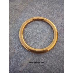 1 τεμ, 42 χλστ διάμετρος, Μεταλλικός, Κρίκος, Χρυσό