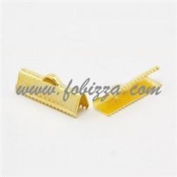 10 τεμ, 20x8x5 χλστ, Τρύπα: 2 χλστ, Συνδετικό Κορδέλας από Σίδηρο, Χρυσό χρώμα