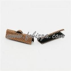 10 τεμ, 20x7x5 χλστ, Τρύπα: 2 χλστ, Συνδετικό Κορδέλας από Σίδηρο, Χρώμα Κόκκινο χαλκού
