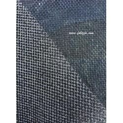 1 τεμ, 50x30 εκατ, Καμβας για Τσάντα, Πλέγμα, Ασημί