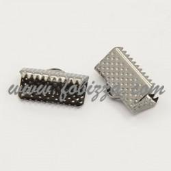 10 τεμ, 13x7x5 χλστ, Τρύπα: 2 χλστ, Συνδετικό Κορδέλας από Σίδηρο,  Χρώμα Πλατίνας