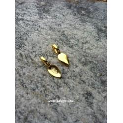 5 τεμ, 21x8 χλστ, Κράμα, Κρεμαστό Φύλλο, Χρυσό