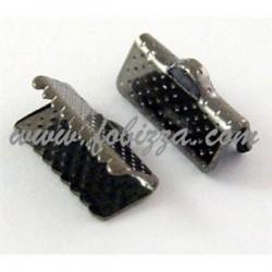 10 τεμ, 13x7x5 χλστ, Τρύπα: 2 χλστ, Συνδετικό Κορδέλας από Σίδηρο, Χρώμα Μαύρο