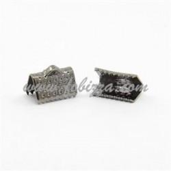 10 τεμ, 10x7x5 χλστ, Τρύπα: 2 χλστ, Συνδετικό Κορδέλας από Σίδηρο,  Χρώμα Μαύρο