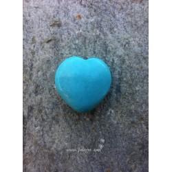 1 τεμ, 30x30 χλστ, Φυσικό Τυρκουάζ, Ημιπολύτιμος Λίθος, Καρδιά,  Τυρκουάζ