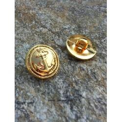 1 τεμ, 17 χλστ, Μεταλλικά Κουμπιά, Χρυσό