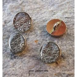 1 τεμ, 15 χλστ, 304 Ανοξείδωτο Ατσάλι, Κουμπιά με Υγρό Γυαλί σε Ασημί