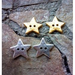 1 τεμ, 22 χλστ, Κουμπιά απο Χαλκό, Αστέρι σε Χρυσό και Ασημί