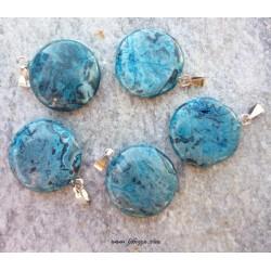 1 τεμ, 24x21 χλστ, Πολύτιμοι λίθοι σε Μενταγιόν, Στρογγυλό, Μικτό Χρώμα
