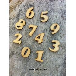 2 τεμ, 20x16 χλστ, Αριθμοί απο Ξύλο