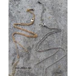 1 τεμ, 46 εκατ. μήκος, Χαλκός, Αλυσίδα με Κούμπωμα και Κρίκους , Χρυσό και Πλατίνας
