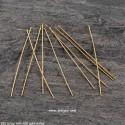 5 τεμ, 40 χλστ., 925 Ασήμι επιχρυσωμένο με 18Κ Χρυσό , Καρφίτσα με Κεφάλι, Χρυσό