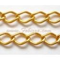 Ρόμβος Αλουμίνιου, αλυσίδες με χαλιναγώγηση, οξειδωμένη σε χρυσό, μέγεθος: 9x14mm