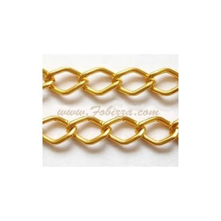 1μ, 9x14 χλστ, Αλουμίνιου, Αλυσίδα Ρόμβος με Χαλιναγώγηση, Χρώμα Χρυσό