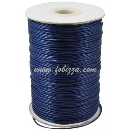 1 μετρο, 1 χλστ πάχος, Κερωμένο Δερματάκι, Μακραμέ, Σκούρο Μπλε
