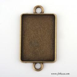 1 τεμ, 18x25 χλσ, Μεταλλικό Καστόνι,  με 2 Συνδέσμους, Χρυσό Αντίκας