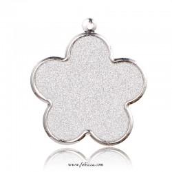 1 τεμ, 46x42x1.5 χλσ, Λουλούδι Κρεμαστό με Glitter, Λευκό