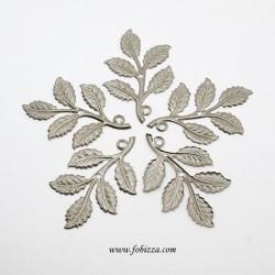 2 τεμ, 50.5x33x1 χλσ, Φύλλα, Μεταλλικό Φιλιγκράν,Ασήμι