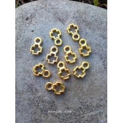 5 τεμ, 12 χλστ, Μεταλλικός Σταυρός, Χρυσό