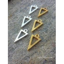 1 τεμ, Μεταλλικό, Τρίγωνο, Κρεμαστό, Χρυσό και Ασήμι
