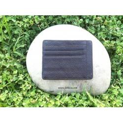 1 τεμ, 7.3x11 εκ., Δερμάτινο Πορτοφόλι σε Μαύρο, Ανοιχτό και Σκούρο Καφέ