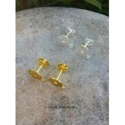 6 τεμ, 10x8 χλστ, Χαλκός στο δίσκο και Ανοξείδωτο Χάλυβα η καρφίτσα, ελεύθερο από μόλυβδο, κάδμιο και νικέλιο, Χρυσό