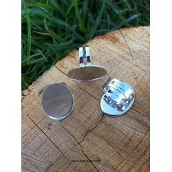 1 τεμ, 25 χλστ Δίσκος, Δαχτυλίδι από Χαλκό, Ρυθμιζόμενο, Εξάρτημα Βάση, Χρυσό και Ασημί
