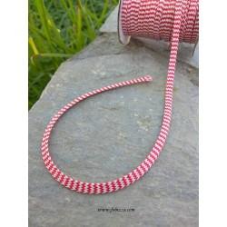 1 μ, 1 χλστ λεπτό, Μεταλλικό Σχοινί απο Κάνναβη, Ροζ με Ασημί Λάμψη