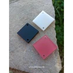 """2 τεμ, 20 χλστ, Plexiglass, Γεωμετρικά Σχήματα με 2 Τρύπα, """"Ρόμβος"""" σε Άσπρο, Ροζ και Μαύρο"""