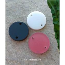 """2 τεμ, 20 χλστ, Plexiglass, Γεωμετρικά Σχήματα με 1 Τρύπα, """"Στρογγυλό"""" σε Άσπρο, Ροζ και Μαύρο"""
