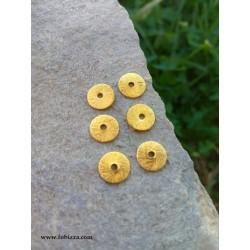 6 Tεμ,  8 χλστ, Καπάκι σε Χαλκό Στρογγυλό σε Σχήμα Δίσκου, Χρυσό και Ασήμι