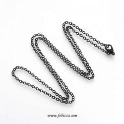 1 τεμ, 60 εκ., Αλυσίδα με Κλειστά Ελατήρια, Λεπτή Αλυσίδα, Μαύρο
