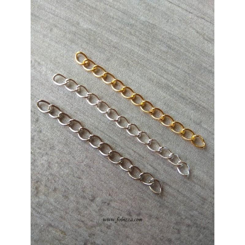 Xαλκός, Στριφτή Αλυσίδα, Χρυσό, 45 ~ 55x3.6mm