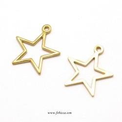 5 τεμ, 15x14x0.5 χλστλ, Τρύπα: 1 χλστ, Χαλκός, 1 Σύνδεσμο, Αστέρι , Χρυσό