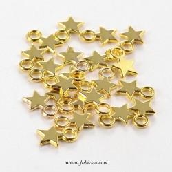 5 τεμ, 14,5x12 χλστ, Αστέρι Θιβετιανό Στύλ Αντίκα, με έναν Σύνδεσμο σε Χρυσό