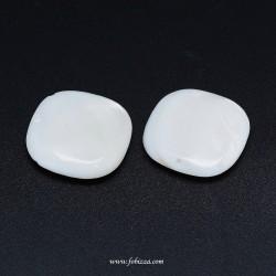 10 τεμ, 8,14x5,8 χλστ, Φυσική λευκή πέρλα Οβάλ