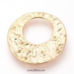 1 τεμ, 24 χλστ, Ορείχαλκος Επιχρυσωμένος με 18Κ Χρυσό, Πολυέλαιος, Flat Στρογγυλό, Χρυσό
